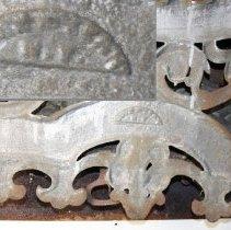 Image of detail back bottom center near foundry mark