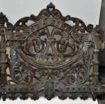 Image of Cemetery fence gate for grave of Tanne & Einbeck, 1901, formerly at Hoboken Cemetery, North Bergen, N.J.  - Gate