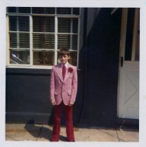 Image of Color photo of John Cunning at 27 Willow Terrace, Hoboken, Apr. 23, 1972.  - Photograph