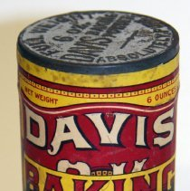 Image of Can: Davis OK Baking Powder. 6 oz. R. B. Davis Co., Hoboken, n.d., ca. 1915-1925. Unopened. - Can