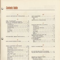 Image of Catalog 6, pg 6-3, Contents Guide