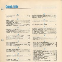 Image of Catalog 6, pg 12-3, Contents Guide