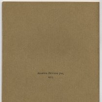 Image of back cover - date