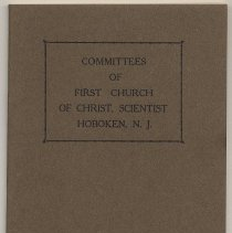 Image of Committees of First Church of Christ, Scientist, Hoboken, N.J. Adopted Dec. 1921. - Manual