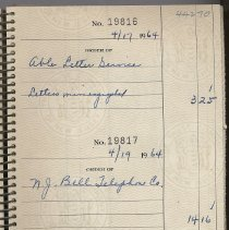 Image of Checkbook registers, 3, of First Church of Christ, Scientist, 829 Bloomfield St., 1963 to 1967. - Checkbook