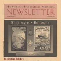 Image of Hoboken Historical Museum Newsletter [Second Series], Volume 8, Number 3, July - August 2002 - Periodical