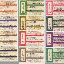 Image of Tickets, monthly commutation, 12: Erie Lackawanna Railway, Hoboken to Millburn,1975.  - Ticket, Transportation