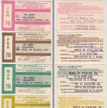 Image of Tickets, monthly commutation, 5: Erie Lackawanna Railway, Hoboken to Millburn, 1976.  - Ticket, Transportation