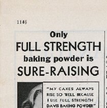 Image of Davis Baking Powder ad in Hygeia, Dec. 1932