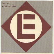 Image of Timetable: Erie-Lackawanna Rwy., long distance routes, NY - Buffalo - Chicago. Eff. Apr. 28, 1968. - Timetable