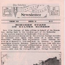 Image of Hoboken Historical Museum Newsletter [First Series], Volume 2, No. 35, February, 1990 - Periodical