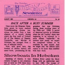 Image of Hoboken Historical Museum Newsletter [First Series], Volume 2, No. 40, July, 1990 - Periodical