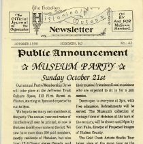 Image of Hoboken Historical Museum Newsletter [First Series], Volume 2, No. 42, October, 1990 - Periodical