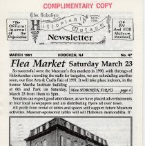 Image of Hoboken Historical Museum Newsletter [First Series], Volume 2, No. 47, March, 1991. - Periodical