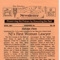 Image of Hoboken Historical Museum Newsletter [First Series], Volume 2, No. 48, April, 1991. - Periodical