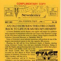 Image of Hoboken Historical Museum Newsletter [First Series], Volume 2, No. 49, May, 1991. - Periodical
