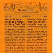 Image of Hoboken Historical Museum Newsletter [First Series], Volume 2, No. 50, June, 1991. - Periodical