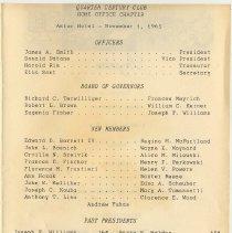 Image of insert pg [1] Home Office Chapter dinner, Nov. 1, 1965; new members et al