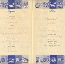 Image of insert pp [2-3] Home Office Chapter dinner: program; menu