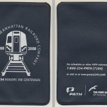 Image of Card holder commemorating the centennial of the PATH system, 2008. - Novelty, Promotional