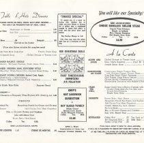 Image of inside, pp [2-3]: menu