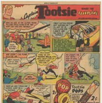 Image of Ad, Tootsie Roll: Captain Tootsie Saves the Sailplane. (Sweets Co. of America, Hoboken); ca. 1947-1952. - Strip, Comic