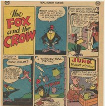 Image of reverse: The Fox and the Crow; Nestle's Crunch