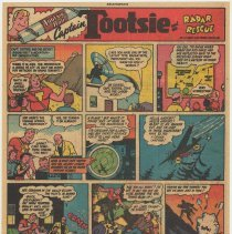 Image of Ad, Tootsie Roll: Captain Toosie and the Radar Rescue. (Sweets Co. of America, Hoboken); ca. 1949-1950. - Strip, Comic