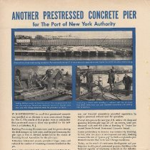Image of Ad: Pier C, Hoboken, construction with Roebling wire rope for Port Authority; Architectural Record, Apr. 1956. - Ad, Magazine