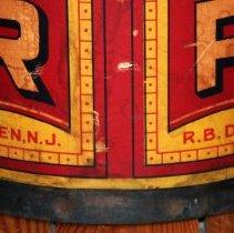 Image of detail side (typical): Hoboken, N.J.; R.B. Davis Co.; note metal ring