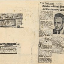 Image of 7: press clippings, side 1; 3 items no date