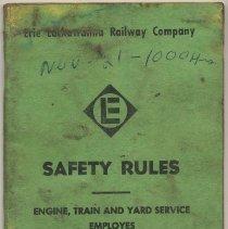 Image of Manual: Erie Lackawanna Rwy. Co. Safety Rules: Engine, Train & Yard Service Employees. Eff. Ap. 1, 1964; Rev. July 1968. - Manual