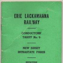 Image of Manual: Erie Lackawanna Rwy. Co. Conductor's Tariff No. 3. N.J. Intrastate Fares. Eff. Dec. 1, 1975.  - Manual