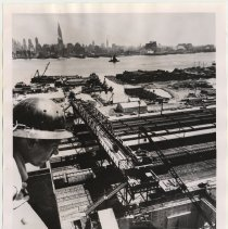 Image of B+W photo of of excavation work in progress on Lincoln Tunnel third tube, Weehawken, Sept. 3, 1954. - Print, Photographic