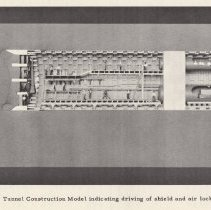 Image of pg 85 Tunnel Construction Model indicating driving of shield & air locks.