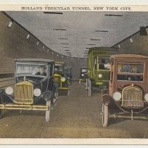 Image of Postcard: Holland Vehicular Tunnel, New York City. No date, 1927-1930. - Postcard