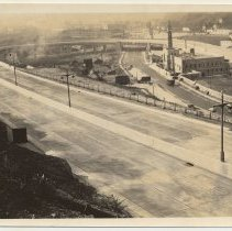 Image of Photos, 4, of approach ramps (helix) to the Lincoln Tunnel, Weehawken, n.d., probably late 1938 or early 1939. - Photograph