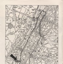 Image of inside front cover: map of Principal Vehicular Arteries of Manhattan