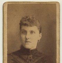 Image of Minette photo: unknown woman, Lay studio, Hoboken, n.d., ca. 1880-1892. - Carte-de-visite