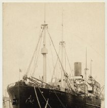 Image of Postcard: U.S.S. Patricia, former German Liner, now in transport service, Hoboken, July 1919.  - Postcard