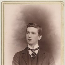Image of Cabinet photo of a young man in formal wear, Hoboken, n.d., ca. 1899-1910.  - Photograph, Cabinet