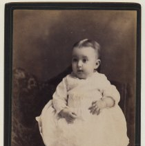 Image of Cabinet photo, mourning, of a baby, Hoboken, no date, circa 1880s. - Photograph, Cabinet