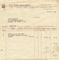 Image of invoice March 13, 1975