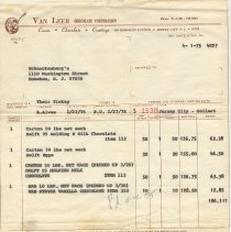 Image of invoice March 27, 1975