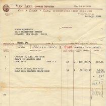 Image of invoice Feb. 25, 1975