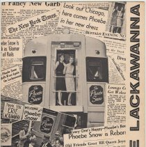 Image of Erie Lackawanna Railroad Magazine, Vol. 59, No. 4, July/Aug. 1963. Last issue. (Phoebe Snow cover.) - Newsletter