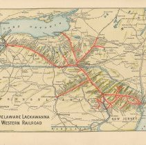 Image of Map inside back cover: Delaware, Lackawanna & Western system / routes