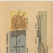 Image of detail pg [8] The Holland Tunnel, Plan, Profile (color); back as folded