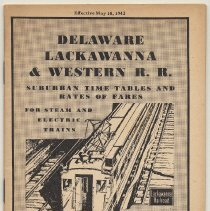 Image of Timetable: D.L. & W. Suburban Timetables & Rates of Fares for Steam & Electric Trains., May 10, 1942. - Timetable