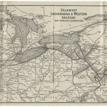 Image of pp [19-20] + [21-22]: Delaware, Lackawanna & Western Railroad map